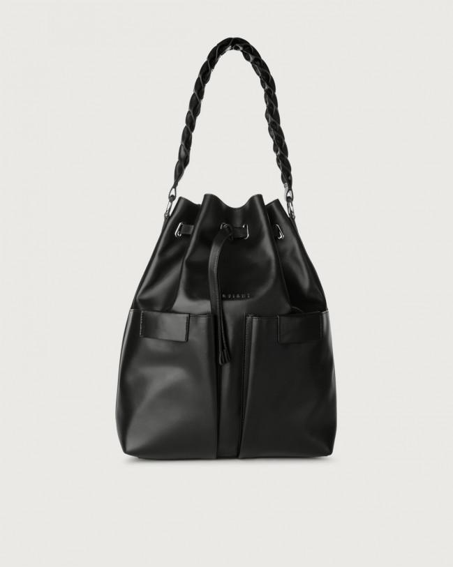 Orciani Tessa Liberty large leather bucket bag Leather Black