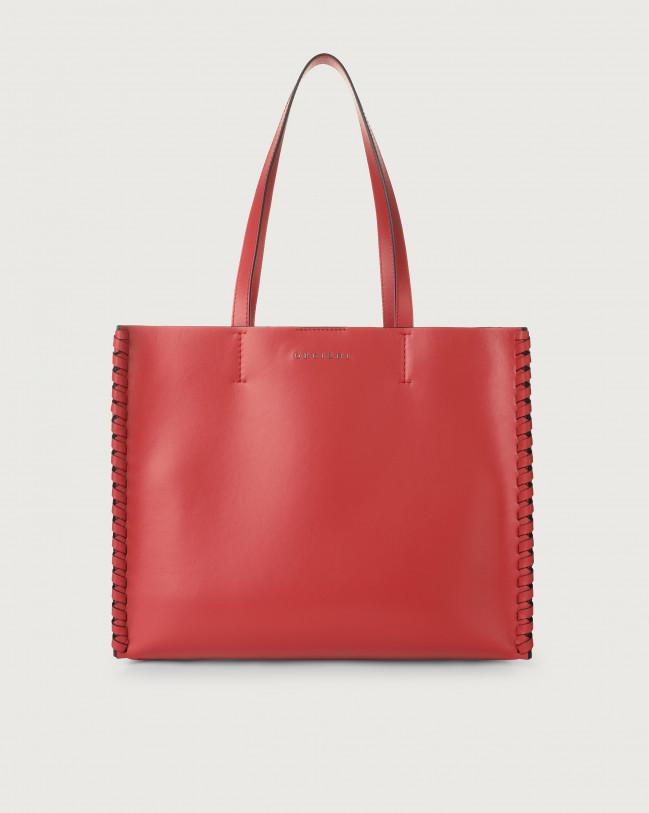 Orciani Le Sac Liberty Mesh medium leather tote bag Leather Red