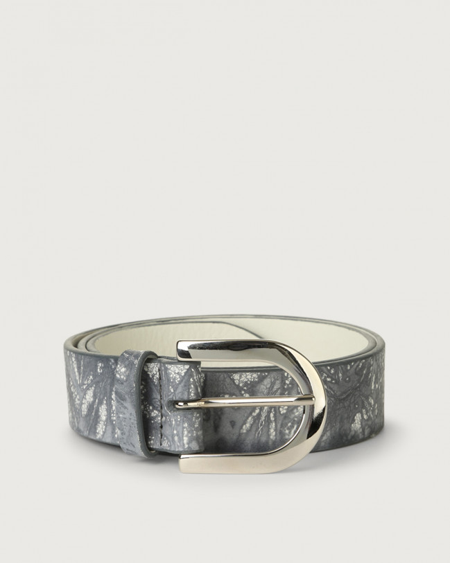 Orciani Caleido leather belt Leather Grey
