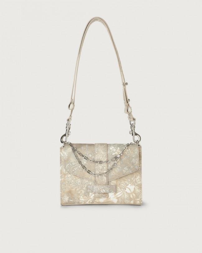 Orciani Tea Caleido leather mini bag Leather Sand