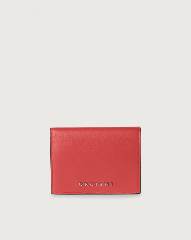 Orciani Liberty small leather wallet Leather Red