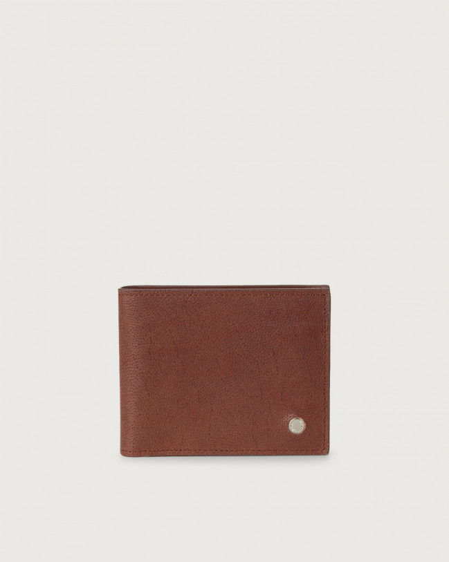 Orciani Frog leather wallet Leather Papaya