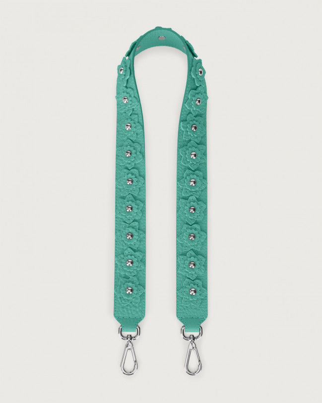 Orciani Soft Flower leather strap Leather Mint Green