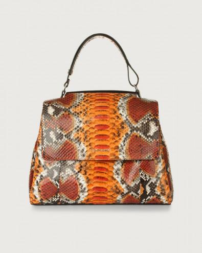 Sveva Naponos medium python leather shoulder bag