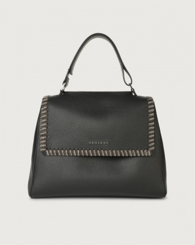 Sveva Chain medium leather shoulder bag with strap