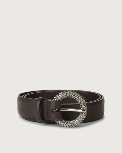 Soft chain buckle leather belt