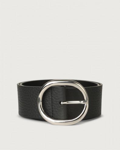 Soft high-waist leather belt 5 cm