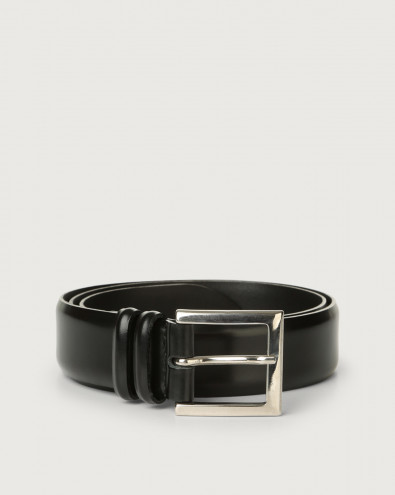 Calf classic leather belt