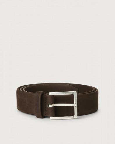 Long Beach nabuck leather belt