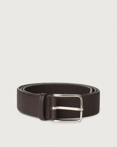 Micron stretch leather belt