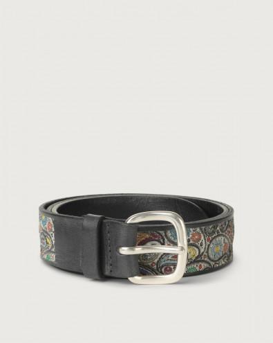 Kashmir leather belt