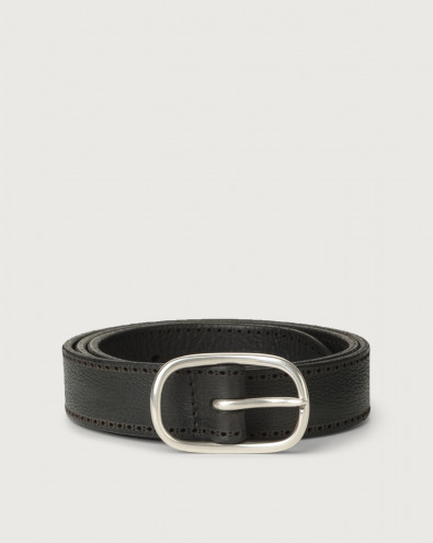 Chevrette nabuck leather belt 3 cm