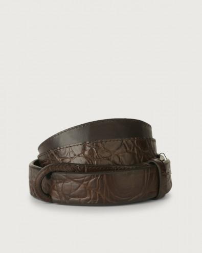 Sauro leather Nobuckle belt