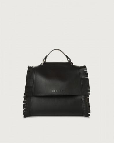 Sveva Liberty Fringe small leather handbag with strap