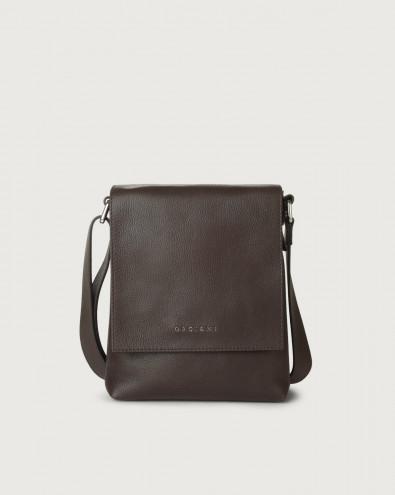 Chevrette small leather messenger bag