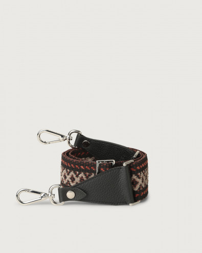 Warm fabric and leather strap