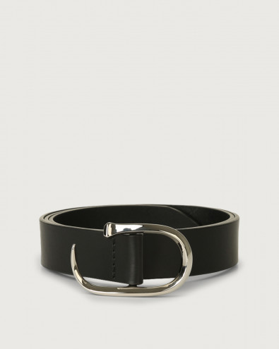 Bull leather belt