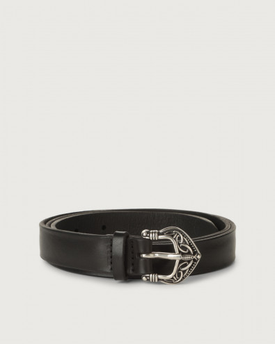 Bull Soft thin leather belt 2 cm
