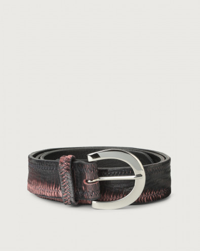 Cutting Color leather belt