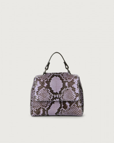 Sveva Diamond mini python leather handbag