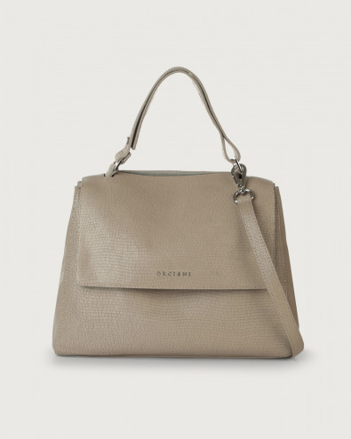 Sveva Shadow medium leather shoulder bag with strap