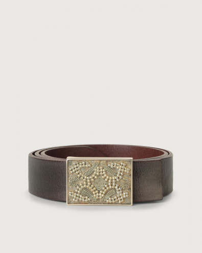 Fire (i) leather belt