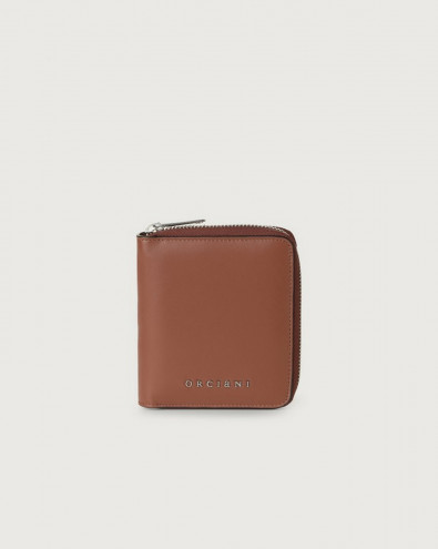Liberty small leather wallet with zip