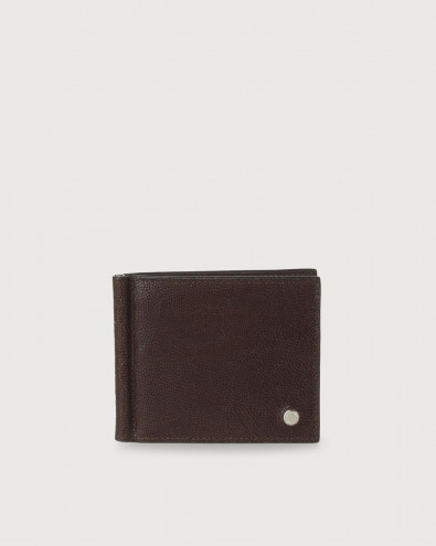 Frog leather wallet with money clip