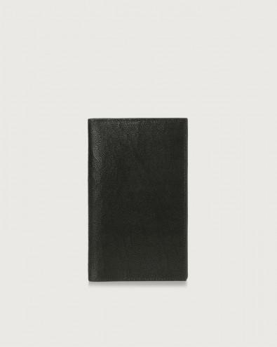 Frog leather large vertical wallet