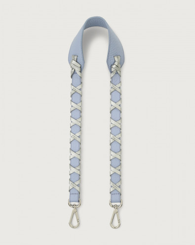 Soft leather strap with binding