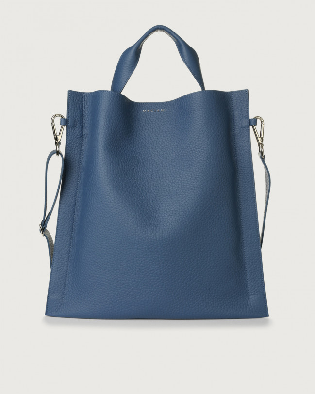 Orciani Iris Soft leather shoulder bag Leather Cobalt Blue