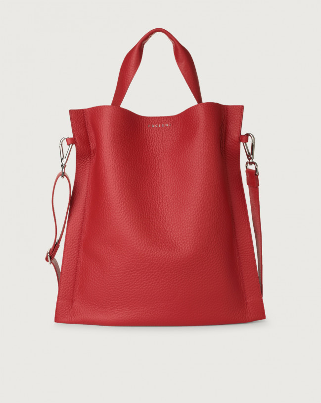 Orciani Iris Soft leather shoulder bag Leather Red