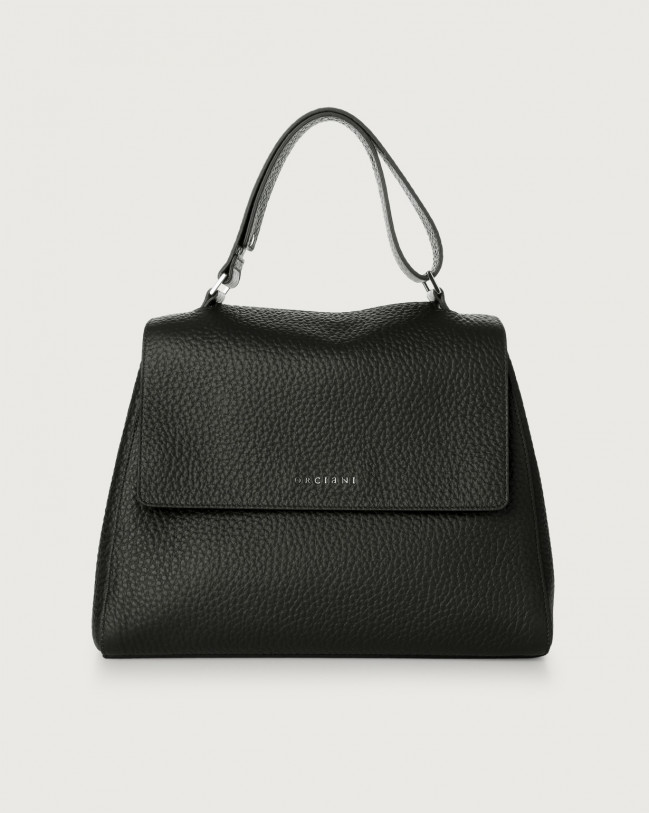 Orciani Sveva Soft medium leather shoulder bag Leather Black