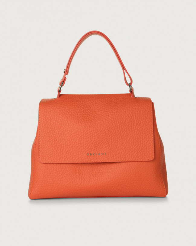 Orciani Sveva Soft medium leather shoulder bag Leather Coral