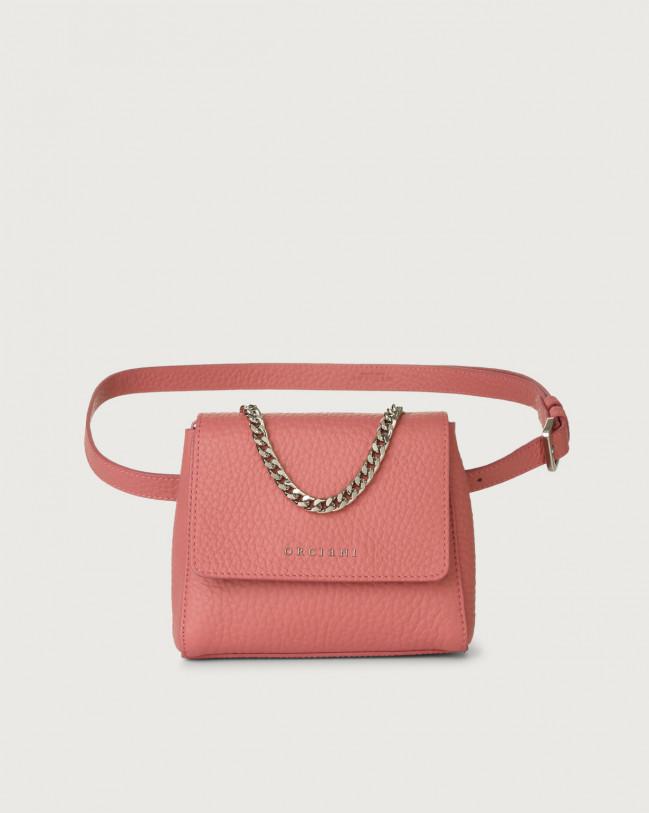 Orciani Sveva Soft mini leather belt bag Leather Pink