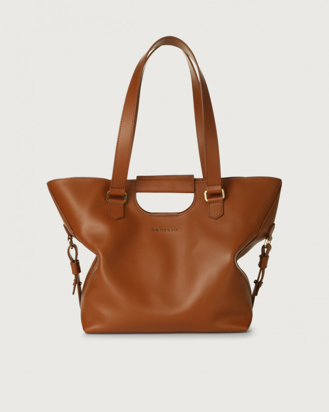 Orciani Isotta Piuma leather shoulder bag Leather Cognac
