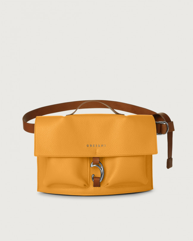 Orciani Scout Micron leather belt bag Leather Yellow