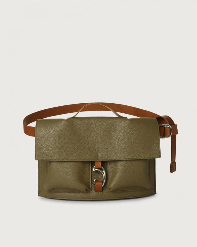 Orciani Scout Micron leather belt bag Leather Green