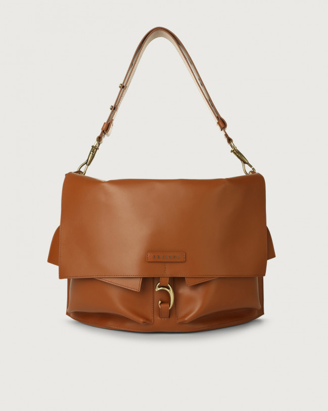 Orciani Scout Piuma leather shoulder bag Leather Cognac