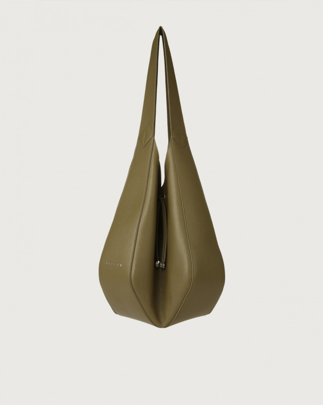 Orciani Palma Micron leather shoulder bag Leather Green