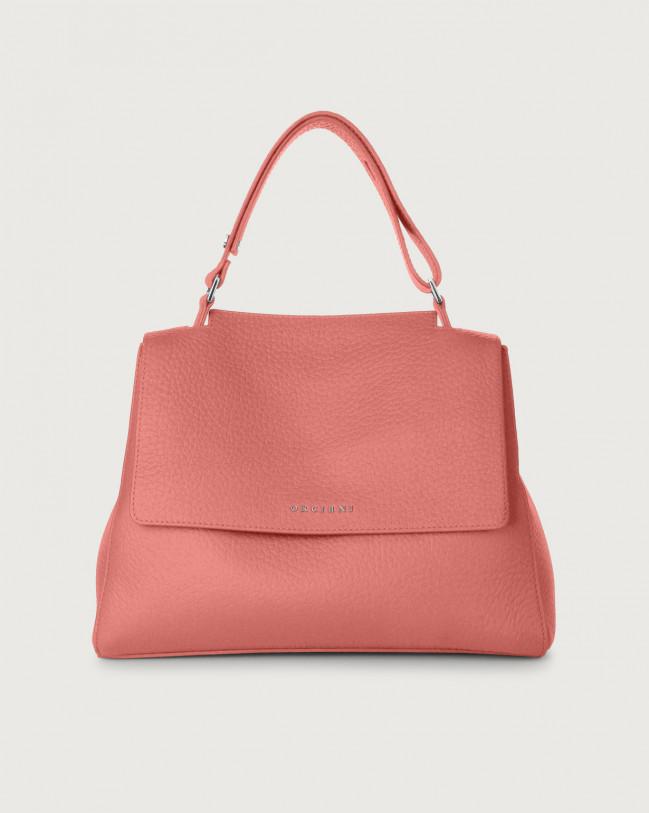 Orciani Sveva Soft medium leather shoulder bag with strap Leather Pink