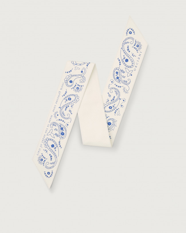 Orciani Bandanas leather foulard Leather White