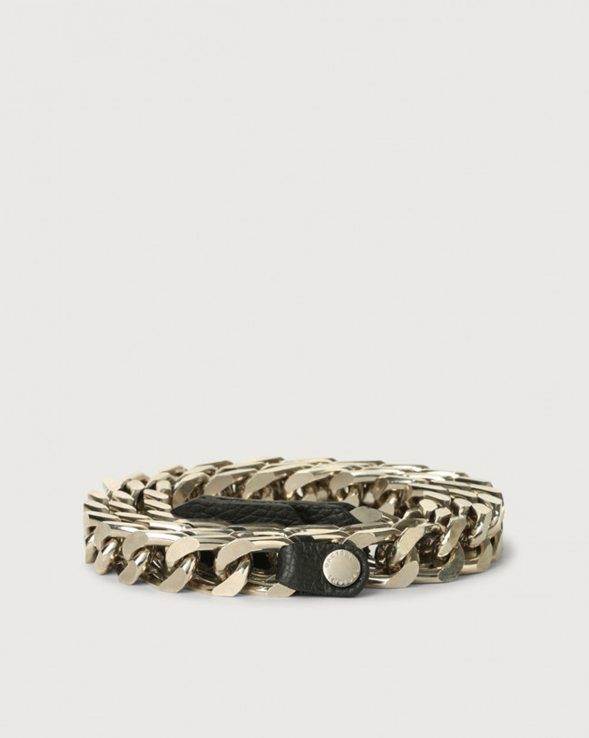 Orciani Micron chain belt Leather Black