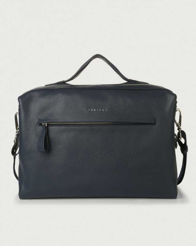 Orciani Bond Micron leather duffle bag Leather Navy