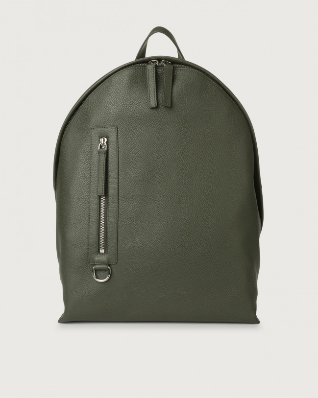 Orciani Micron leather backpack Leather Olive Green