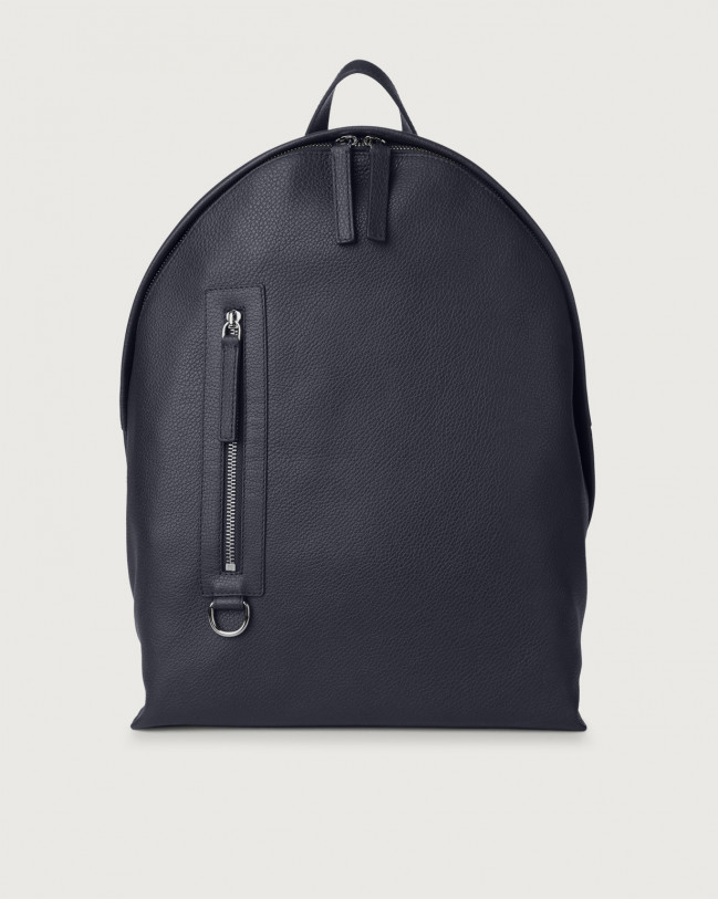 Orciani Micron leather backpack Leather Navy