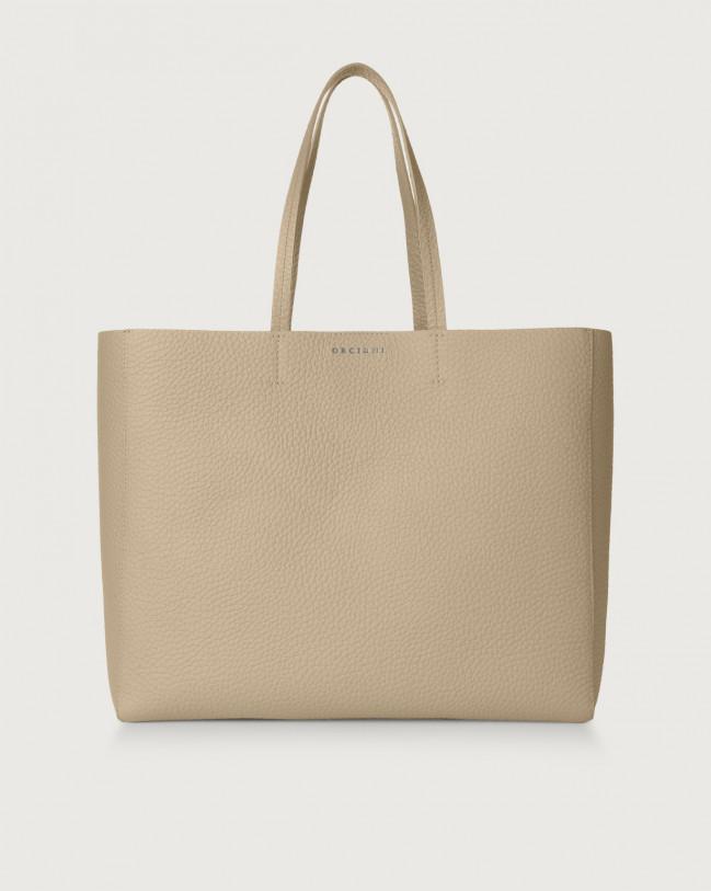 Orciani Le Sac Soft leather tote bag Leather Sand