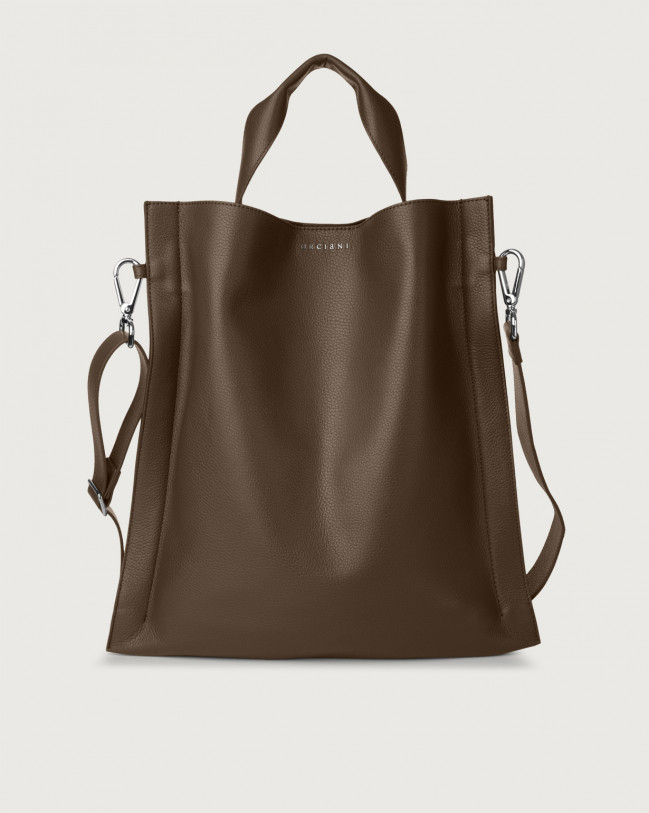 Orciani Iris Micron leather shoulder bag Leather Brown