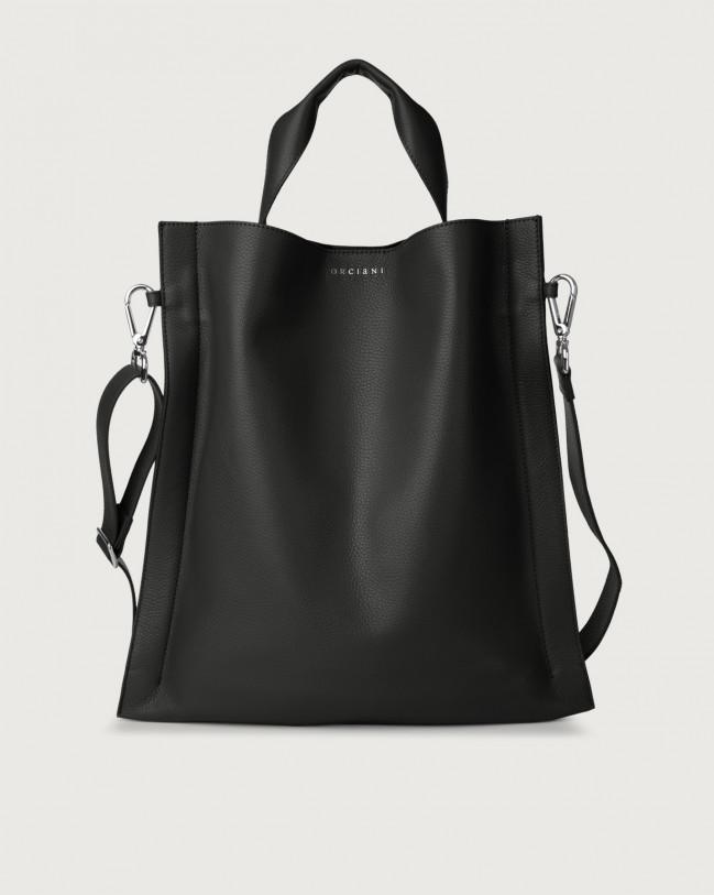 Orciani Iris Micron leather shoulder bag Leather Black