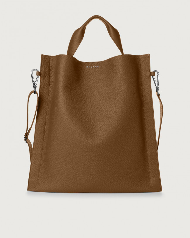 Orciani Iris Soft leather shoulder bag Leather Caramel